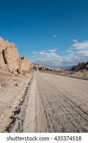 Dirt road high up in the Argentinian Andes