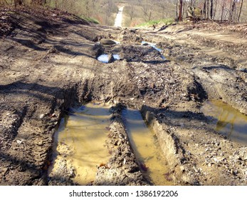 Dirt road in horrible condition