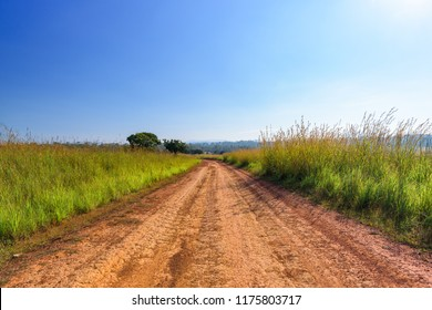 Dirt road and landscape countryside.