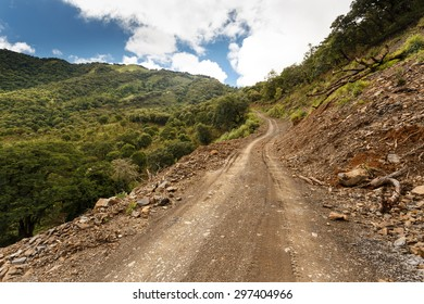 Dirt road leading through Chin State in Myanmar (Burma)