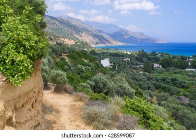 Dirt road in the mountains - Crete, Greece
