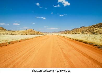 Dirt road in the Namib Desert, Namibia