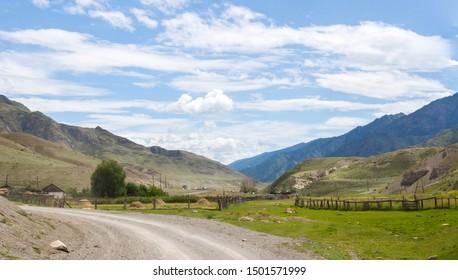 dirt road near the Altai village