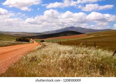 A dirt road in rural Kwazul Natal Midlands, South Africa