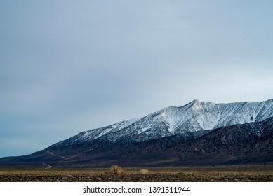 dirt road up side of mountain Sierra Nevadas California