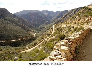 A dirt road through the Swartberg Mountain Pass - South Africa