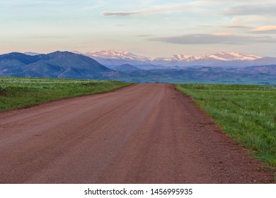 Dirt Road with view of Rocky Mountains in Livemore CO