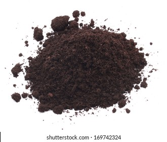 Dirt soil heap on white background