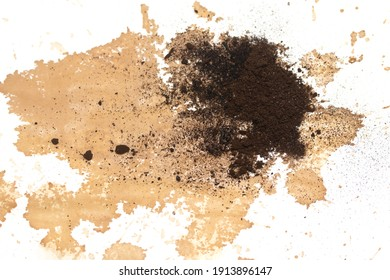 dirt spots earth on white background