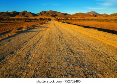 Dirt track through the desert