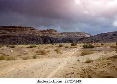 Dirt track in Wadi Zalaga