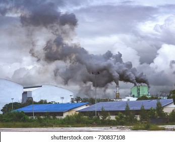Dirty air pollution from factories cause to lung cancer, asthma, respiratory tract disease. Environment concept.