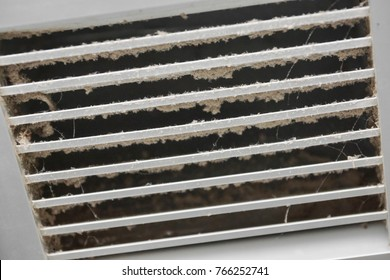 Dirty air ventilator full of dust