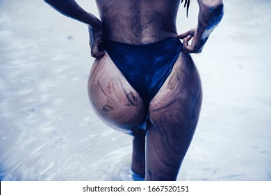 Dirty ass female in panties. Big sexy sandy womans buttocks. Luxury ass. Huge mud buttocks. Sensual attractive mud womans ass