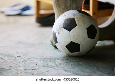 Dirty ball, football, used ball