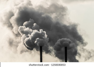 Dirty, black industrial smoke background