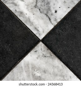 dirty black white marble tiles