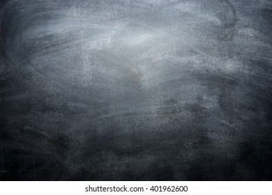 Dirty blackboard with chalk traces, black background