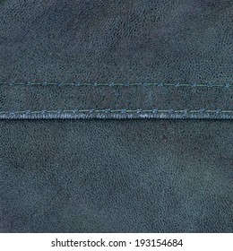dirty blue leather texture, seam