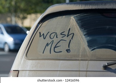 Dirty Car Window