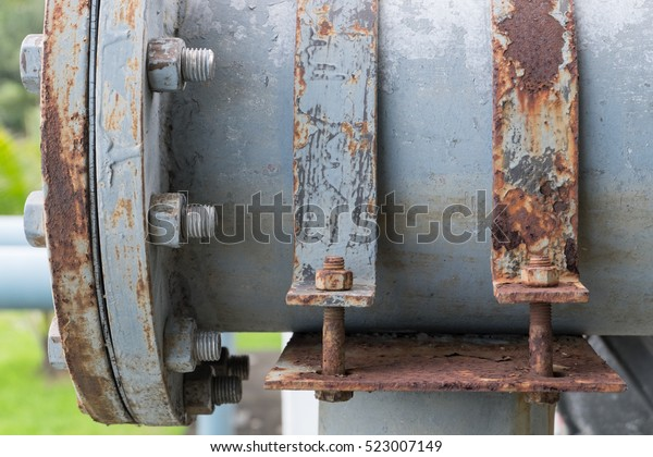Dirty Cast Iron Saddle Clamp Steel Stock Photo (Edit Now