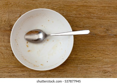 Dirty cereal bowl - empty and used