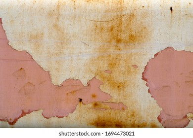 dirty chipped rusty pink painted metal rough texture background