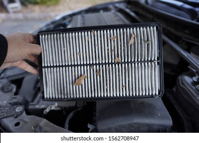 Dirty Engine filter being held