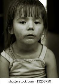 Dirty faced girl