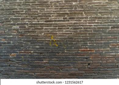 Dirty gray brick wall texture