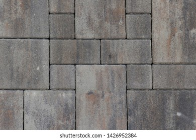 Dirty grey stone rectangle pattern background texture