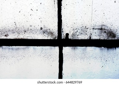 Dirty grunge window frame, abstract texture background