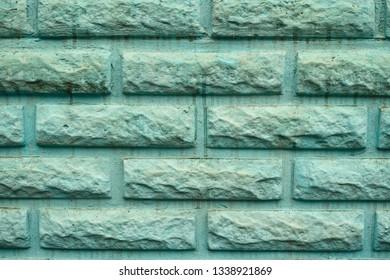 Dirty Mint Green Brick Wall Texture