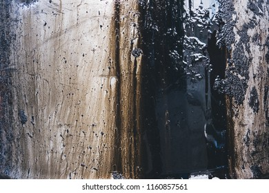 Dirty Oil stain texture background.