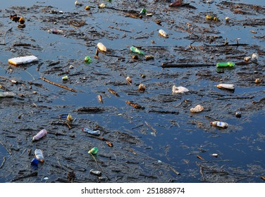 Dirty polluted water environment.