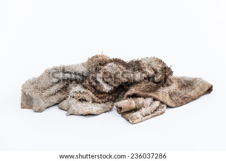 049591bb1c Dirty Rag On White Background Stock Photo (Edit Now) 236037286 ...