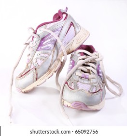Dirty running shoes