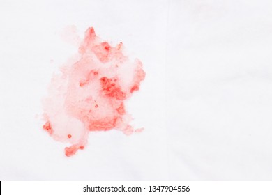 Dirty sauce stain on white clothes from eating. stains in daily life for cleaning work