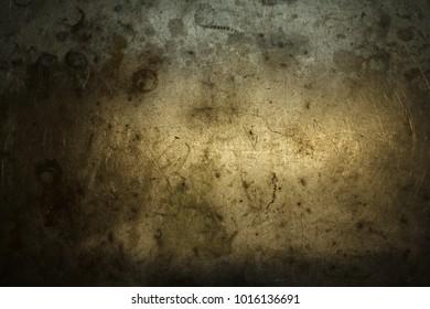 Dirty scratced metall texture. Selective focus.