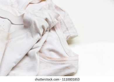 Dirty shirt on white background