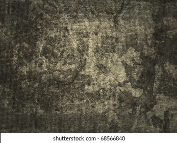 Dirty stained linen striped textured sacking burlap background