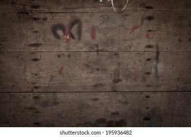 dirty and stained wooden wall