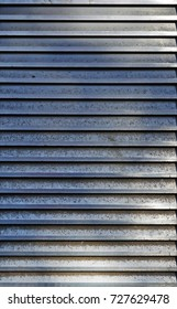 Dirty striped metallic surface