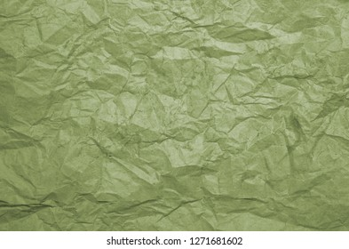 Dirty texture of old crumpled green paper. Paper textures crumpled backgrounds for design