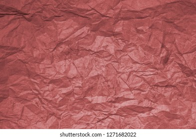 Dirty texture of old crumpled red paper. Paper textures crumpled backgrounds for design