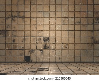 Dirty tile room