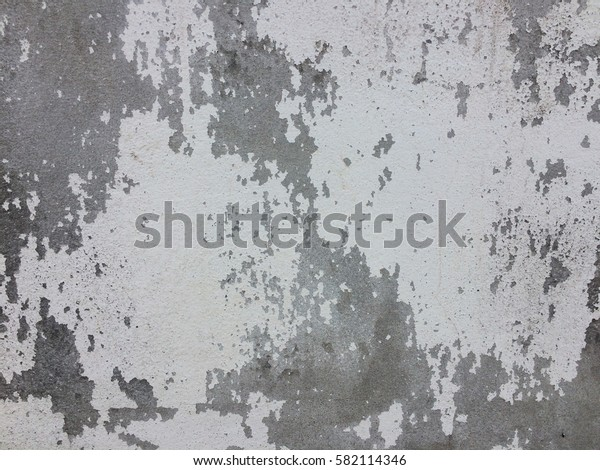 Dirty white concrete paint wall texture and background