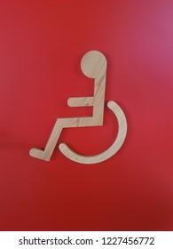 Disability door sign