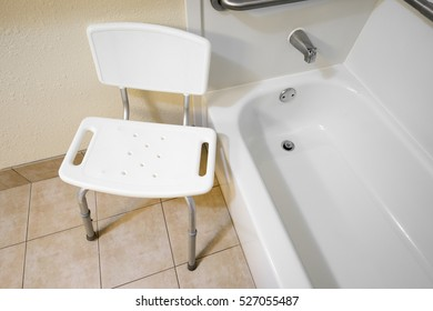 Disabled Access Bathroom Chair in a Hotel