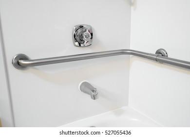 Disabled Access Bathtub Hand Rail Grab Bars in a Hotel